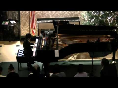 Brandon's First Public Recital at the Steinway Hall in Midtown NYC During Thanksgiving 2012