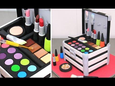 MAKE UP Cosmetics Box Cake    Pastel Caja De Maquillaje