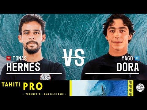 Tomas Hermes vs. Yago Dora - Round Two, Heat 12 - Tahiti Pro Teahupo'o 2018