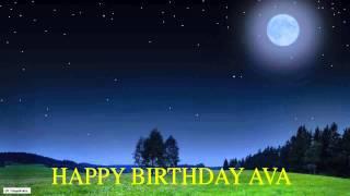 Ava  Moon La Luna - Happy Birthday