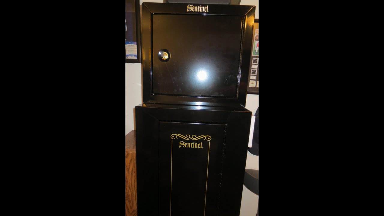 Stack On Sentinel 10 Gun Cabinet & Pistol/Ammo Cabinet - YouTube