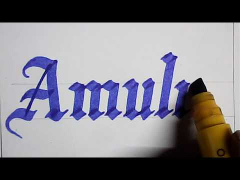 Free hand lettering with marker pen | mazic writer