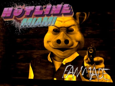 Hotline Miami Third Person Shooter gameplay animation_THE MAN WITH A JACKET |