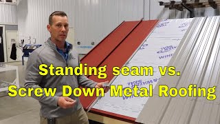 Standing Seam Metal Roofing Vs Corrugated Screw Down Metal Roof - Big Differences Between The Two