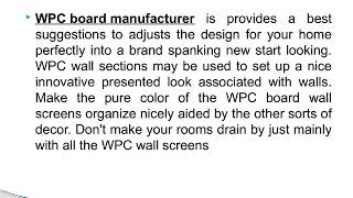 Well Known House Design with WPC