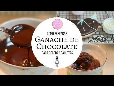 Como Hacer Ganache De Chocolate Para Decorar Galletas Youtube