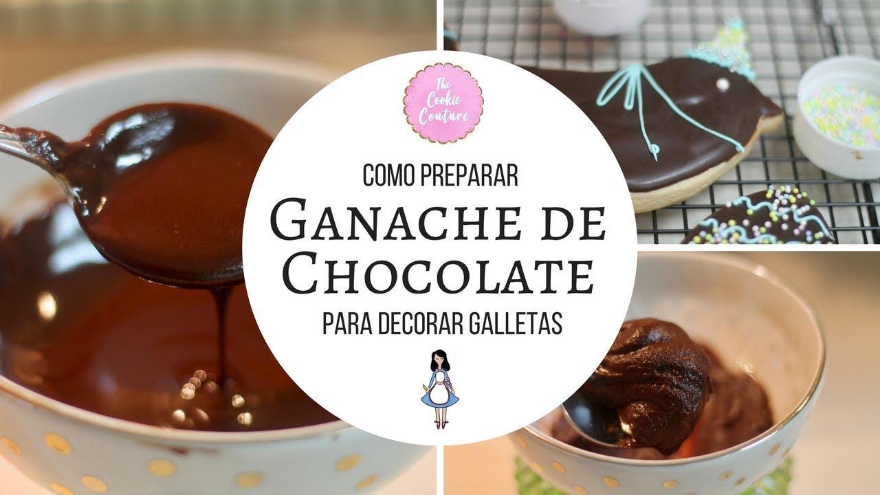 Como Hacer Ganache De Chocolate Para Decorar Galletas