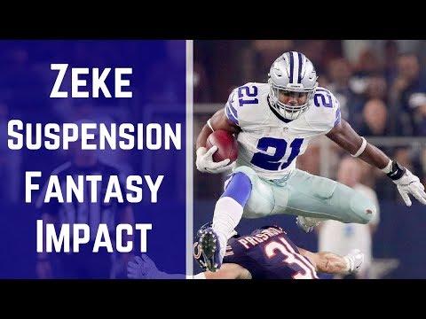 Ezekiel Elliott Suspended! What's The Fantasy Impact?