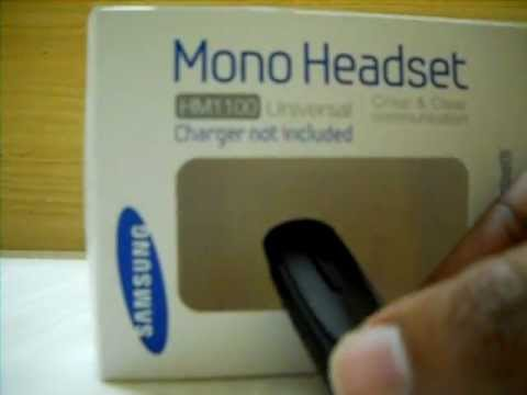 6477e13377f samsung HM1100 bluetooth headset unboxing budget india mobile - YouTube