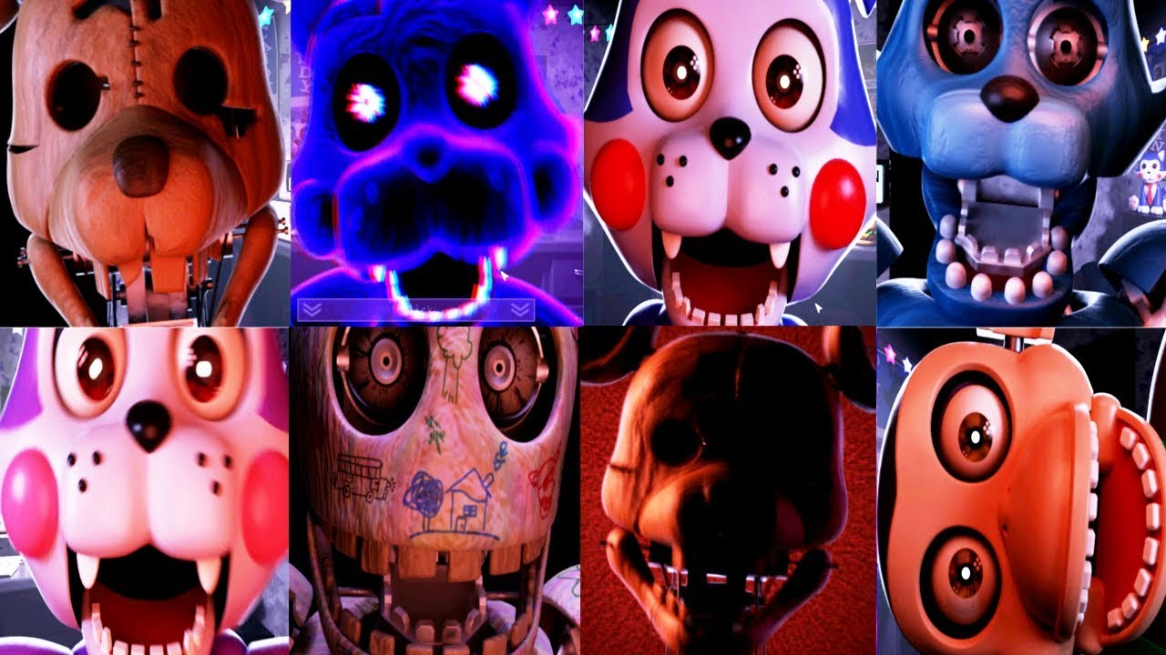 Five Nights At Candy S Remastered All Jumpscares Fnac Youtube