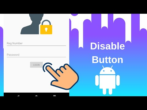 How To Disable Android Button Programmatically
