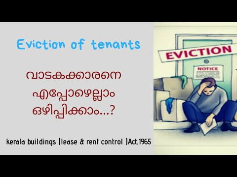 Grounds for eviction of tenant under Kerala Buildings (lease and rent control) Act,1965-