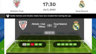 Real Madrid vs Athletic Bilbao Live, LA Liga Real Madrid vs Athletic Bilbao Live Streaming