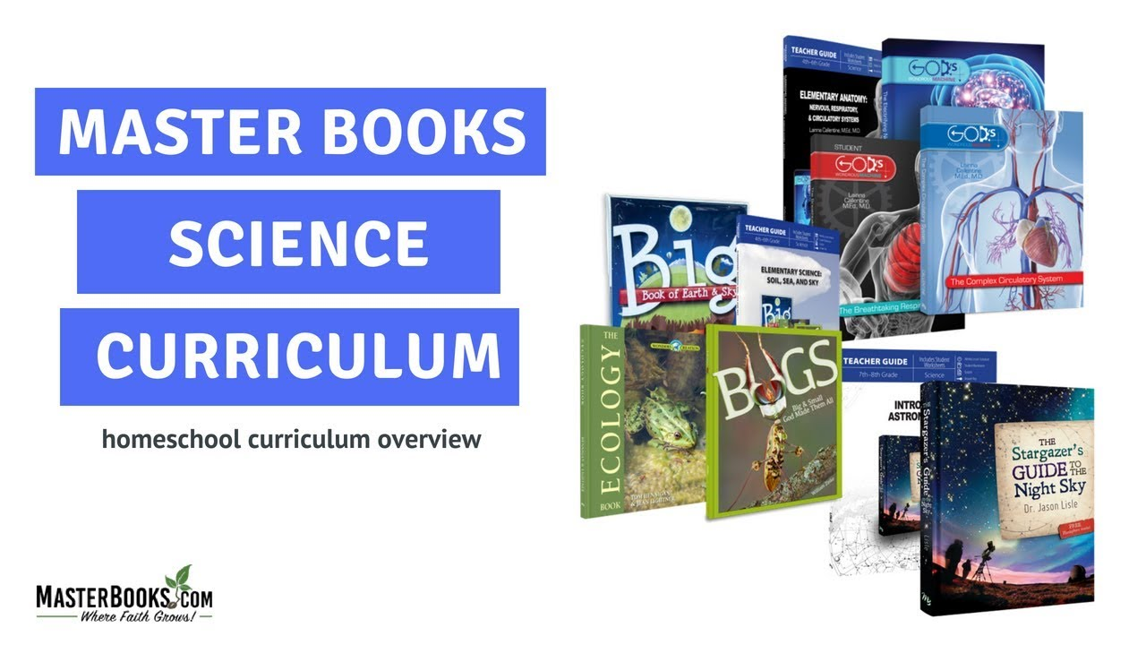 Homeschool Science Curriculum Overview // Master Books Catalog June ...