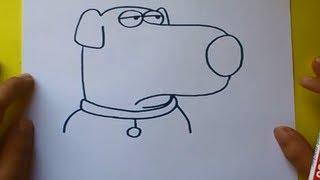 Como dibujar a Brian paso a paso - Padre de Familia | How to draw Brian - Family guy