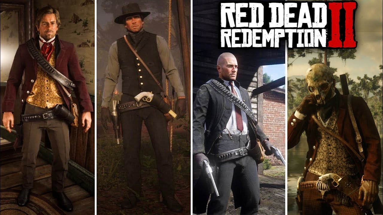 Red Dead Redemption 2 - FASHION FRIDAY! (Westworld MIB, Indiana Jones &  More Cool Outfits)