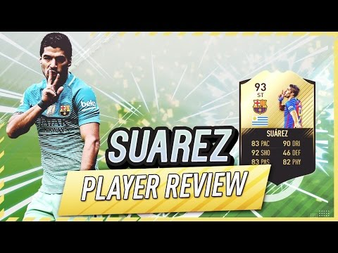 FIFA 17 UT - IF Suarez (93) Player Review W/Gameplay & In-Game Stats