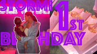 Stormi Webster 1st birthday party Kylie Jenner & Travis Scott DAUGHTER BIRTHDAY STORMIWORLD