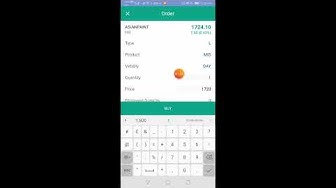 Placing a bracket order in Infini Mobile App