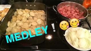 Potato, Sausage, & Onion Medley