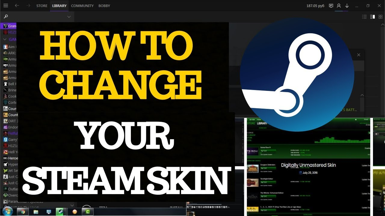 Tutorial | how to get custom steam skins youtube.