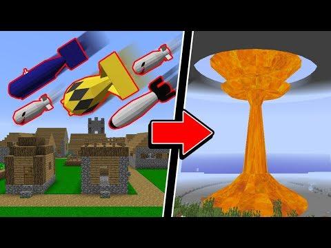 Minecraft: TESTANDO BOMBAS ATÔMICAS NO MINECRAFT! VAI DESTRUIR TODO SEU MUNDO!