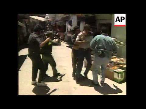 Middle East: Undercover Israeli Troops Infiltrate Palestinian Rioters - 1997