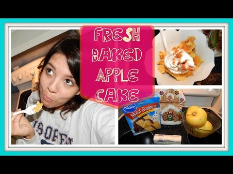 Fresh Baked Apple Cake Recipe   3 INGREDIENTS + UNDER $5!