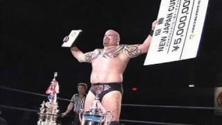 NJPW GREATEST MOMENTS NEW JAPAN CUP SPECIAL 2006.04.30 GIANT BERNARD vs NAGATA
