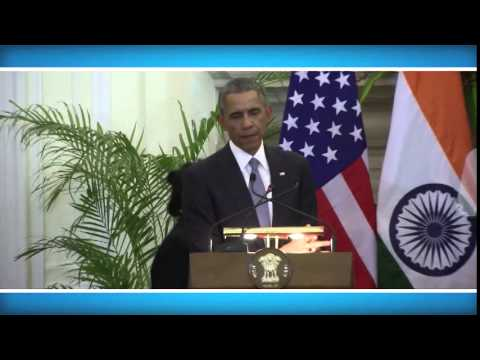 State Visit of President of United States of America  Media Interaction (25 January 2015)