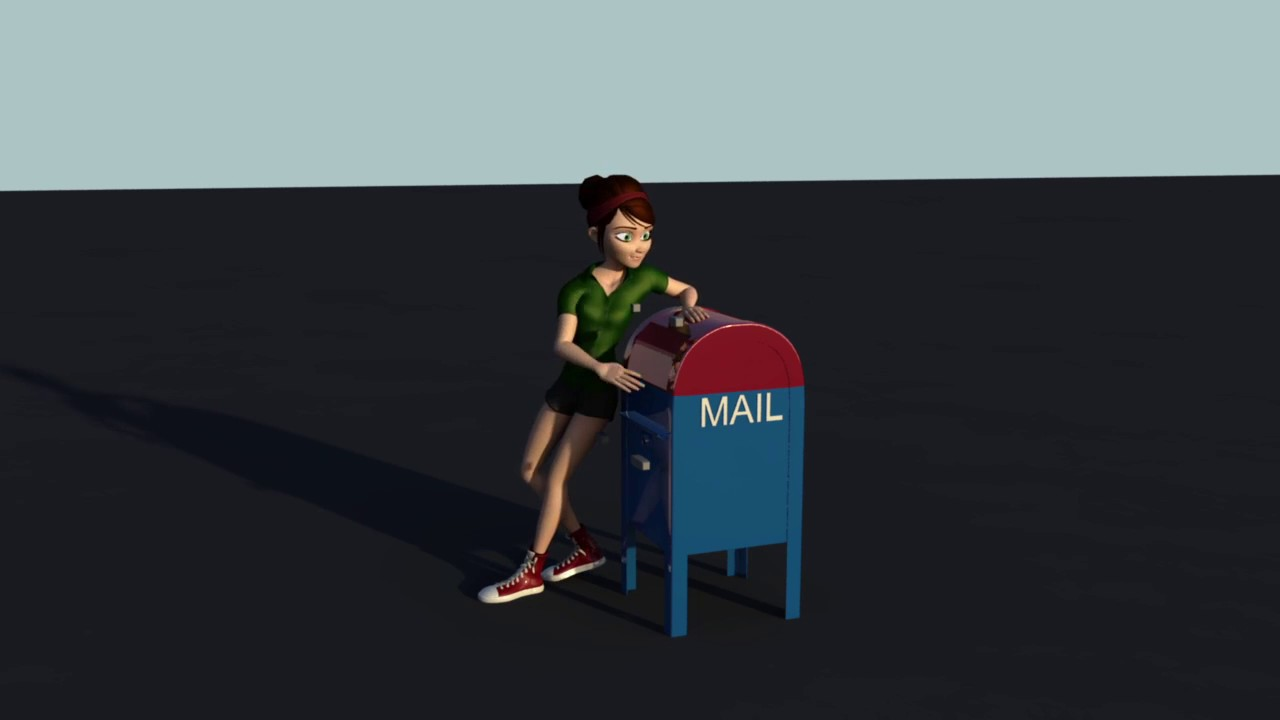 D Animation  Mailing A Letter  Youtube