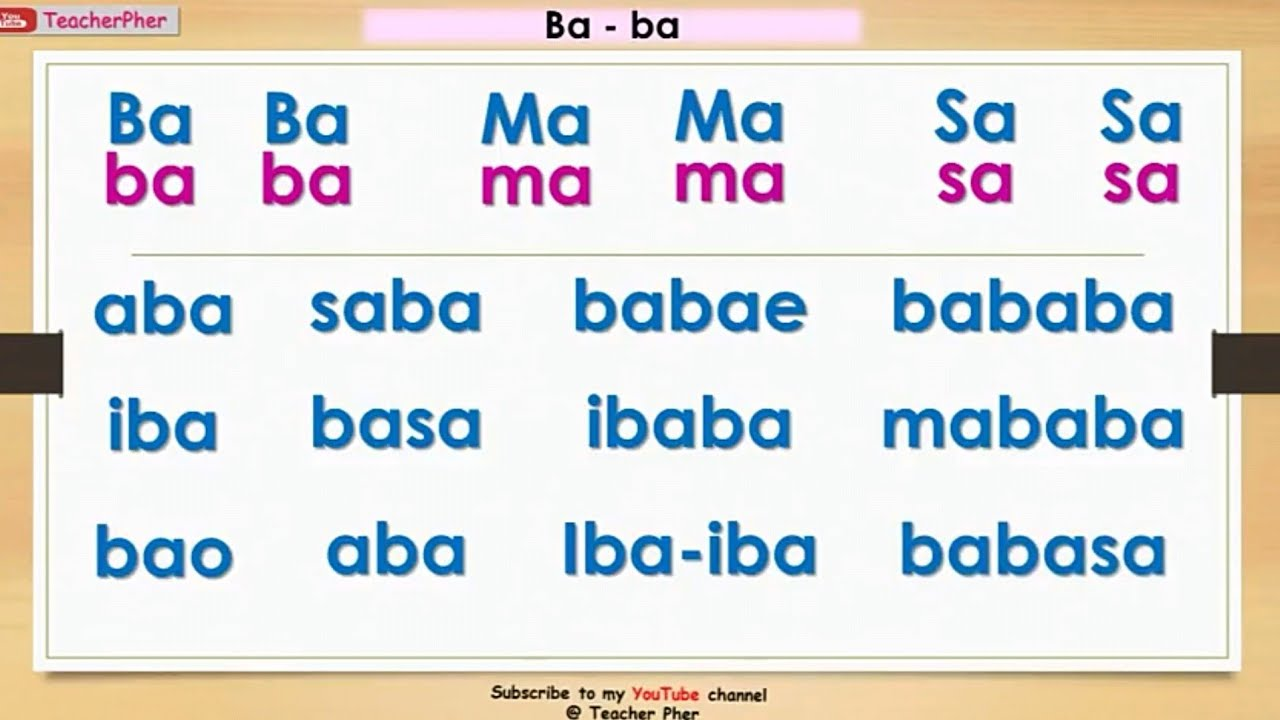 Ba-ba || Marungko Approach in Reading Tagalog #teacherpher