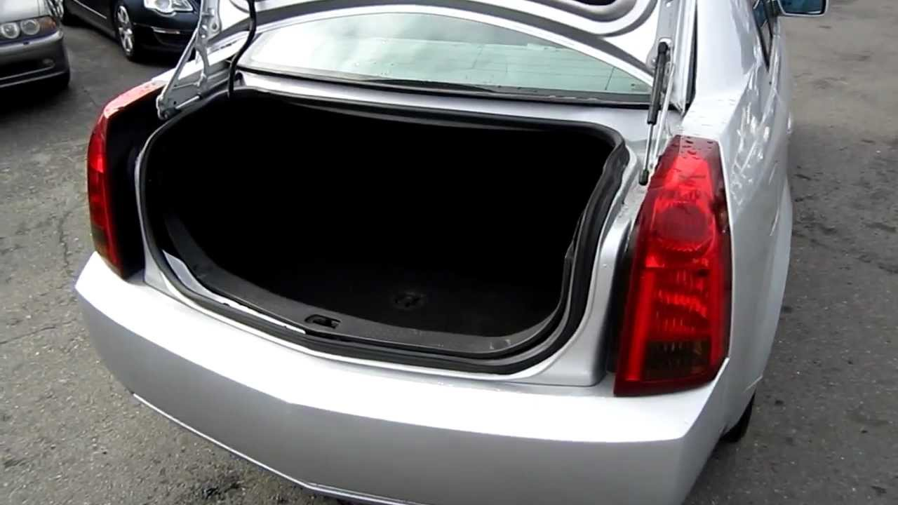 2003 Cadillac Cts Silver Stock L144466 Trunk And Engine