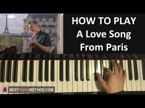 HOW TO PLAY - Paint (Jon Cozart) - A Love Song From Paris (Piano Tutorial Lesson)