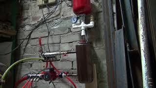 Теплый пол в гараже с электрокотлом