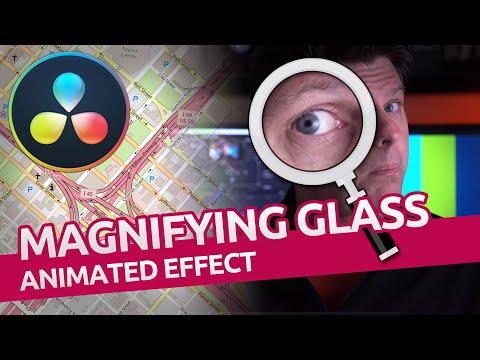 Animated Magnifying Glass Tutorial / Davinci Resolve 16 / Fusion