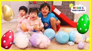 Emma vs Kate Easter egg Hunt Surprise Toys for kids with Ryan