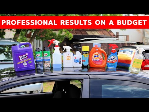 How To Clean The Car Interior With Cheap DIY Products