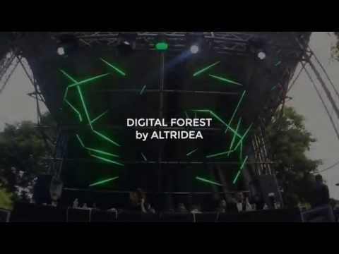 DIGITAL FOREST. Led Mapping Show for Parc Èlectronique by Altridea.