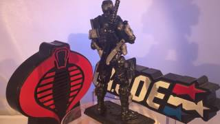 "Custom GI Joe ""Snake Eyes"" (Commando) Action Figure"