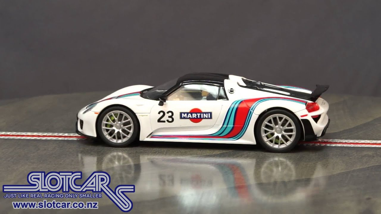 27467 Carrera Evolution Slot Car Porsche 918 Spyder Martini 23 Slotcar