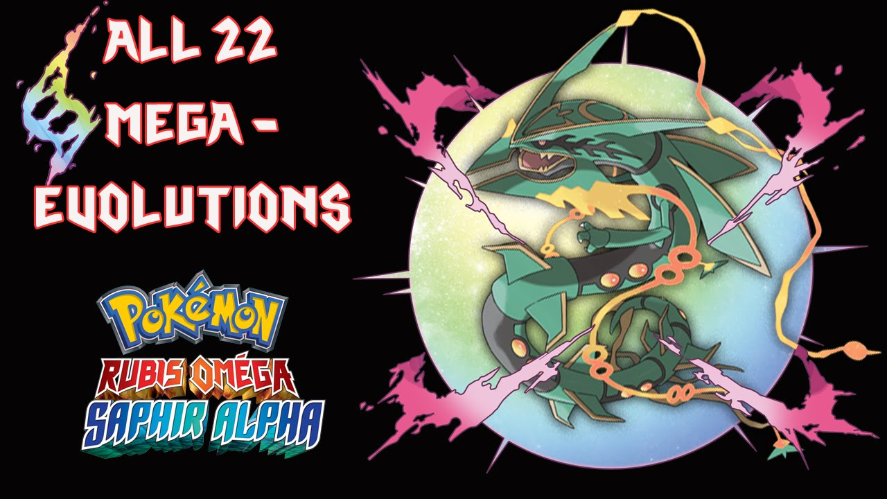 Les 22 m ga evolutions de pokemon rubis om ga saphir alpha youtube - Pokemon version rubis evolution ...
