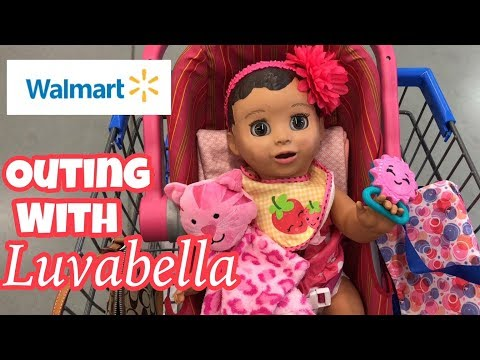 Luvabella Baby outing to Walmart toys and baby items robot baby doll