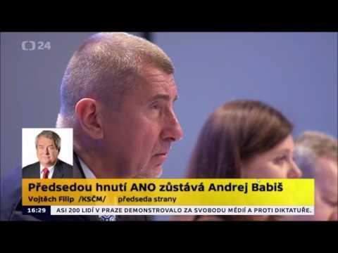 Babiš předsedou hnutí ANO
