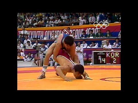 Олимпийские игры 1988 вольная борьба (финал 68 кг) Арсен Фадзаев (USSR) Vs Пак Янг Сун (KOR)