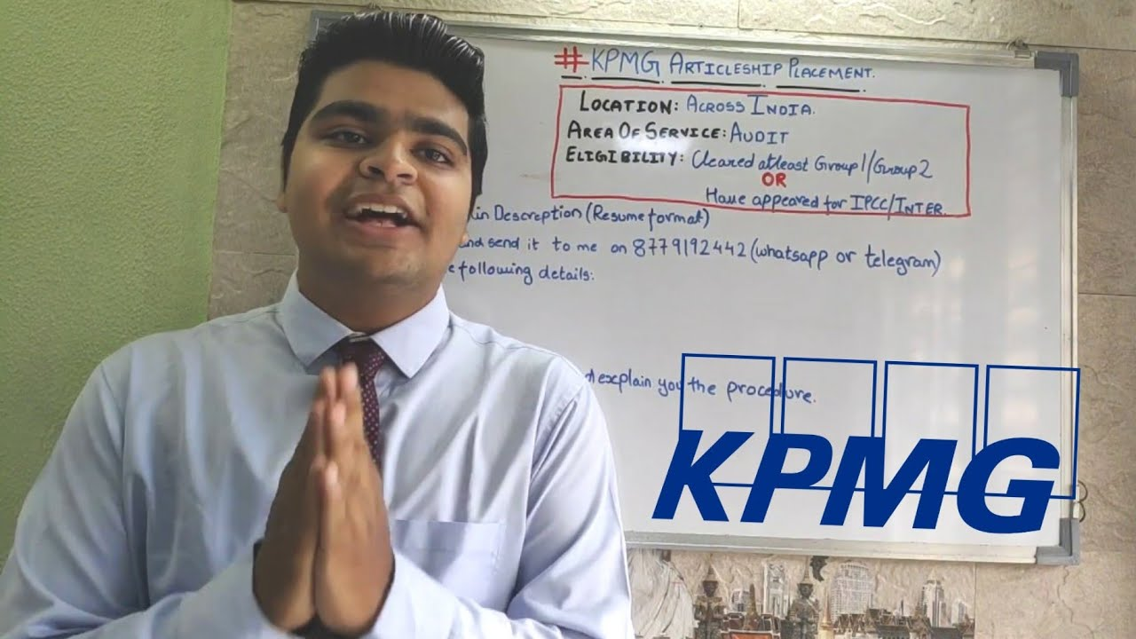 How To Get Into Kpmg Big 4 For Articleship In Detail Video