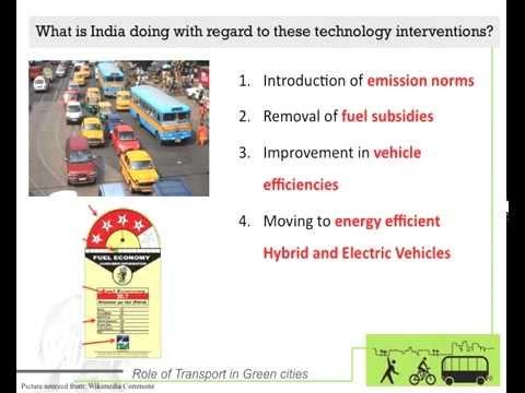 Webinar - Role of Transport in making Cities Green