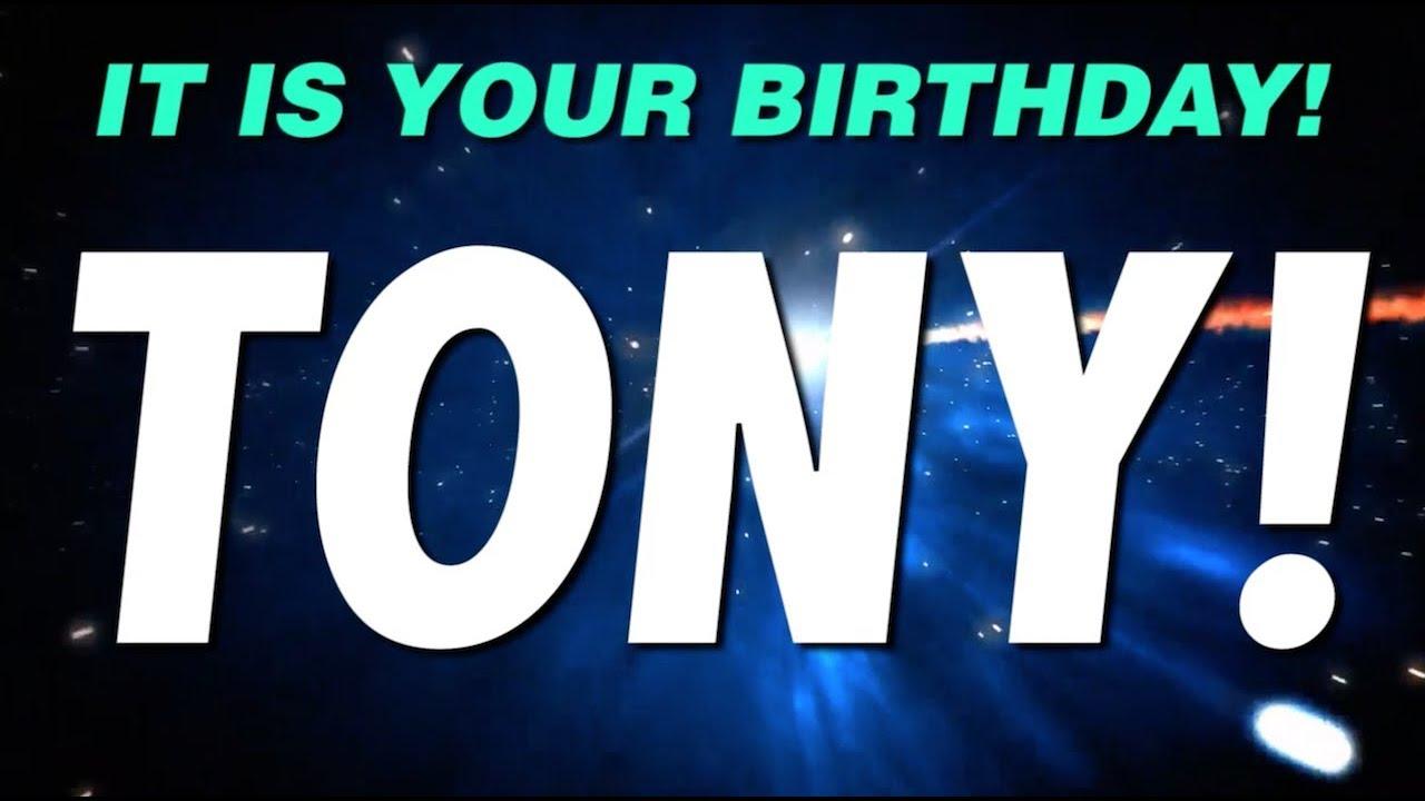 Tony Birthday Happy Tiger