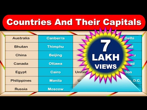 Countries And Their Capitals || DAG Education