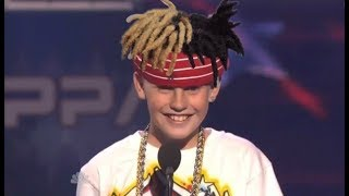 CJ Dippa rapping XXXTentacion on americas got talent